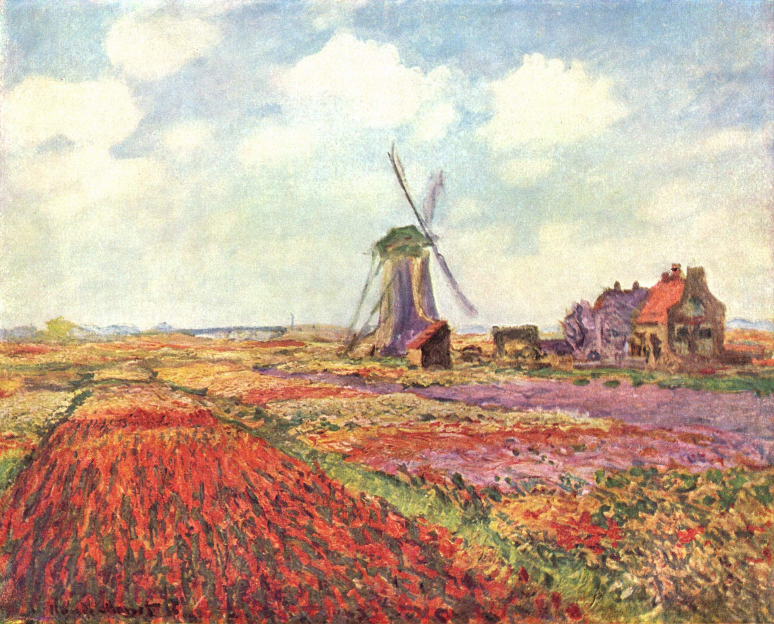 Claude Monet - Tulip fields in Holland (Musée d'Orsay)